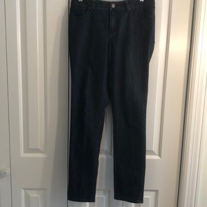 Coldwater creek size 8 skinny leg jeans dark wash